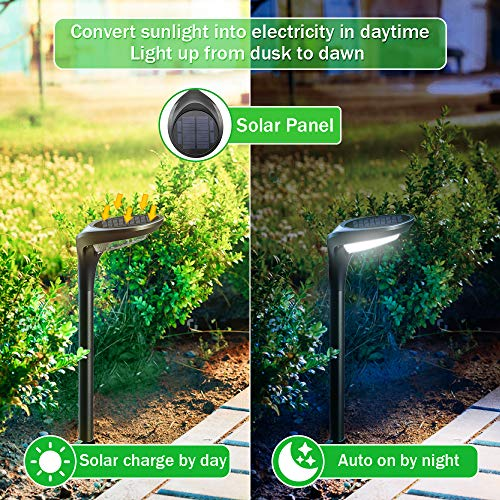 OSORD Outdoor Solar Pathway Lights Waterproof 2 In 1 Solar Powered Wall Light Landscape Lighting Auto OnOff With 2 Color Modes Solar Lights For Garden Path Yard Patio Walkway Driveway Pool 4 Pack 0 1