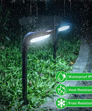 OSORD Outdoor Solar Pathway Lights Waterproof 2 In 1 Solar Powered Wall Light Landscape Lighting Auto OnOff With 2 Color Modes Solar Lights For Garden Path Yard Patio Walkway Driveway Pool 4 Pack 0 2 300x360