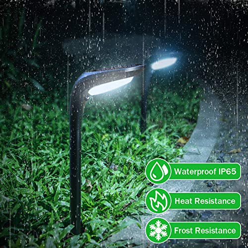 OSORD Outdoor Solar Pathway Lights Waterproof 2 In 1 Solar Powered Wall Light Landscape Lighting Auto OnOff With 2 Color Modes Solar Lights For Garden Path Yard Patio Walkway Driveway Pool 4 Pack 0 2