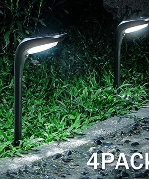 OSORD Outdoor Solar Pathway Lights Waterproof 2 In 1 Solar Powered Wall Light Landscape Lighting Auto OnOff With 2 Color Modes Solar Lights For Garden Path Yard Patio Walkway Driveway Pool 4 Pack 0 300x360