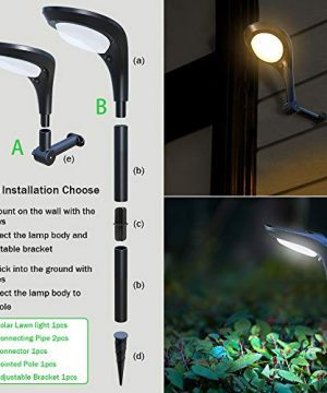 OSORD Outdoor Solar Pathway Lights Waterproof 2 In 1 Solar Powered Wall Light Landscape Lighting Auto OnOff With 2 Color Modes Solar Lights For Garden Path Yard Patio Walkway Driveway Pool 4 Pack 0 4 300x360