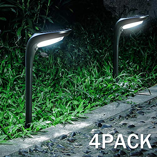 OSORD Outdoor Solar Pathway Lights Waterproof 2 In 1 Solar Powered Wall Light Landscape Lighting Auto OnOff With 2 Color Modes Solar Lights For Garden Path Yard Patio Walkway Driveway Pool 4 Pack 0
