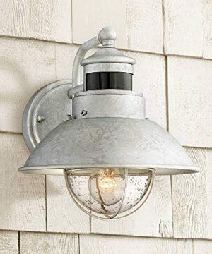 Oberlin Outdoor Wall Light Fixture Farmhouse Galvanized 9 Motion Security Sensor Dusk To Dawn For House Patio Porch John Timberland 0 300x360