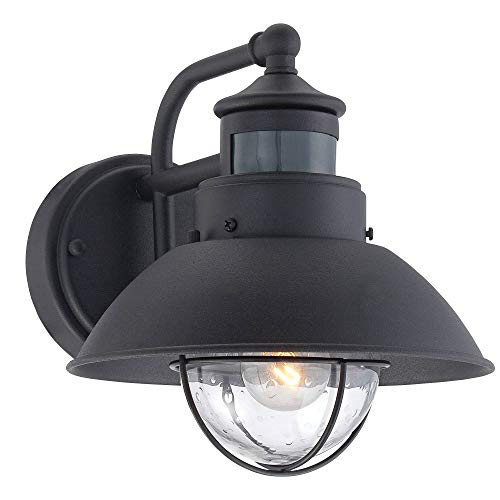 Oberlin Rustic Outdoor Wall Light Black Exterior Fixture Motion Security Dusk To Dawn For House Deck Porch John Timberland 0 0