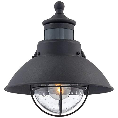 Oberlin Rustic Outdoor Wall Light Black Exterior Fixture Motion Security Dusk To Dawn For House Deck Porch John Timberland 0 2
