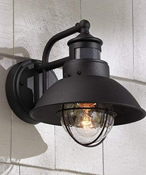 Oberlin Rustic Outdoor Wall Light Black Exterior Fixture Motion Security Dusk To Dawn For House Deck Porch John Timberland 0 300x360