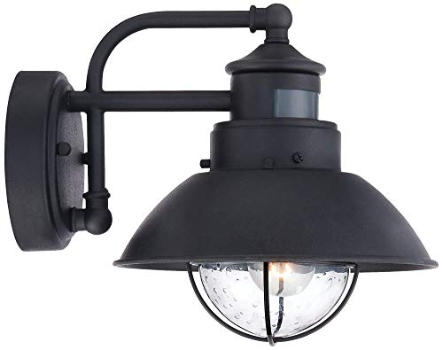 Oberlin Rustic Outdoor Wall Light Black Exterior Fixture Motion Security Dusk To Dawn For House Deck Porch John Timberland 0 4