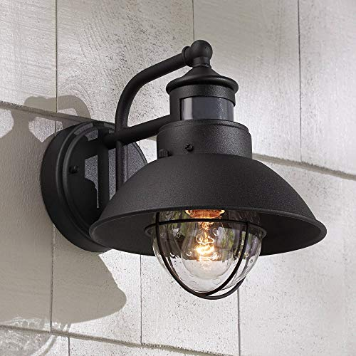 Oberlin Rustic Outdoor Wall Light Black Exterior Fixture Motion Security Dusk To Dawn For House Deck Porch John Timberland 0