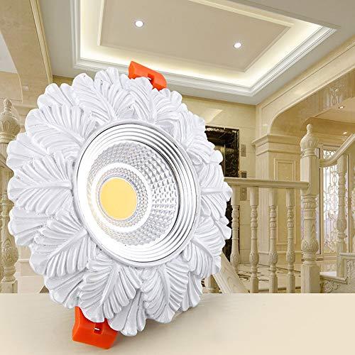 Popertr European Retro LED Recessed Spotlight Rustic High Brightness LED Recessed Downlight For Bedroom Villa Decoration Lighting AC85 265V Resin Carved LED Recessed Ceiling Panel Light 0 0