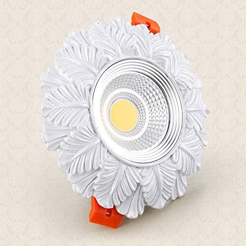 Popertr European Retro LED Recessed Spotlight Rustic High Brightness LED Recessed Downlight For Bedroom Villa Decoration Lighting AC85 265V Resin Carved LED Recessed Ceiling Panel Light 0