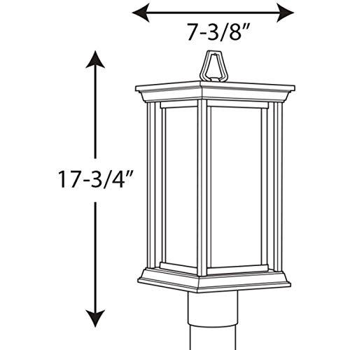 Progress Lighting P5400 31 1 100W MED Post Lantern Black 0 2