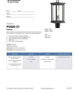 Progress Lighting P5400 31 1 100W MED Post Lantern Black 0 3 300x360