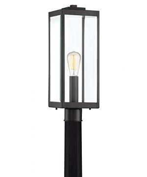 Quoizel WVR9007EK Westover Modern Industrial Outdoor Post Mount Lighting 1 Light 150 Watt Earth Black 21H X 7W 0 300x360