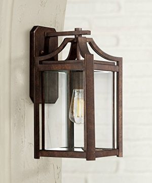 Rockford Rustic Farmhouse Outdoor Wall Light Fixture Bronze Iron 16 14 Clear Beveled Glass Panel For Exterior Patio Porch House Franklin Iron Works 0 300x360