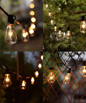 ST38 10Ft String Lights With 11 Clear Edison Light Bulbs UL Listed E12 Base For Party Porch Backyard Patio Black Wire 0 5 300x360
