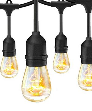 SUNTHIN 2 Pack 48FT Outdoor String Lights With 11W Dimmable Edison Bulbs For Decorative Backyard Patio Bistro Pergola Commercial Hanging Lights String 0 0 300x360