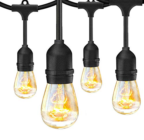 SUNTHIN 2 Pack 48FT Outdoor String Lights With 11W Dimmable Edison Bulbs For Decorative Backyard Patio Bistro Pergola Commercial Hanging Lights String 0 0