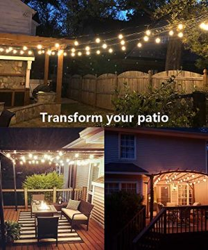 SUNTHIN 2 Pack 48FT Outdoor String Lights With 11W Dimmable Edison Bulbs For Decorative Backyard Patio Bistro Pergola Commercial Hanging Lights String 0 3 300x360