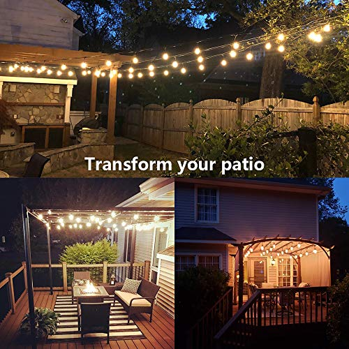 SUNTHIN 2 Pack 48FT Outdoor String Lights With 11W Dimmable Edison Bulbs For Decorative Backyard Patio Bistro Pergola Commercial Hanging Lights String 0 3