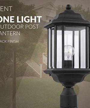 Sea Gull Lighting 82029 12 Kent One Light Outdoor Post Lantern Outside Fixture Black Finish 0 3 300x360