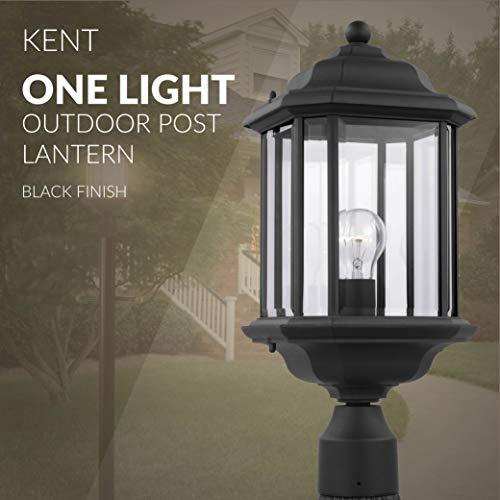 Sea Gull Lighting 82029 12 Kent One Light Outdoor Post Lantern Outside Fixture Black Finish 0 3