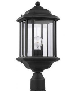 Sea Gull Lighting 82029 12 Kent One Light Outdoor Post Lantern Outside Fixture Black Finish 0 300x360