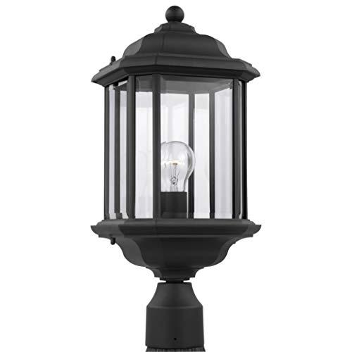 Sea Gull Lighting 82029 12 Kent One Light Outdoor Post Lantern Outside Fixture Black Finish 0