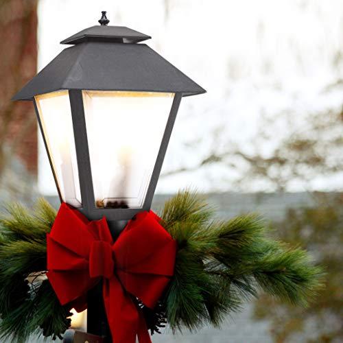 Sea Gull Lighting 82065 12 Polycarbonate One Light Outdoor Post Lantern Outside Fixture Black Finish 0 0