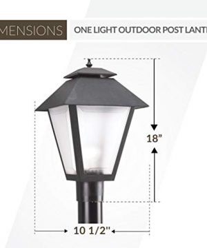 Sea Gull Lighting 82065 12 Polycarbonate One Light Outdoor Post Lantern Outside Fixture Black Finish 0 1 300x360