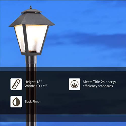 Sea Gull Lighting 82065 12 Polycarbonate One Light Outdoor Post Lantern Outside Fixture Black Finish 0 2