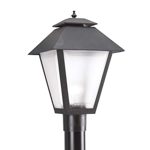 Sea Gull Lighting 82065 12 Polycarbonate One Light Outdoor Post Lantern Outside Fixture Black Finish 0