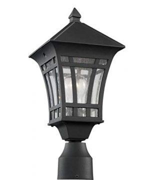 Sea Gull Lighting 82131 12 Herrington One Light Outdoor Post Lantern Outside Fixture Black Finish 0 300x360
