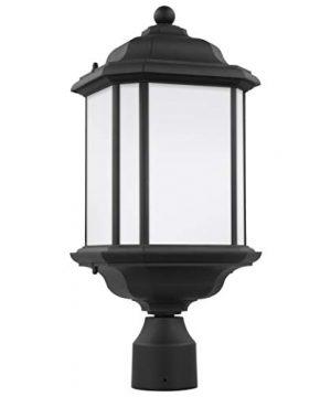 Sea Gull Lighting 82529 12 Kent One Light Outdoor Post Lantern Outside Lighting Black Finish 0 300x360
