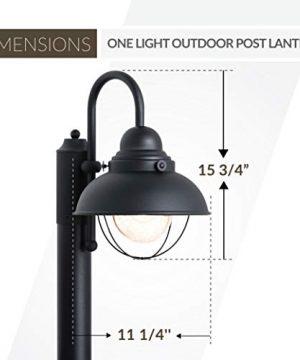 Sea Gull Lighting 8269 12 Sebring One Light Outdoor Post Lantern Outside Fixture Black Finish 0 1 300x360