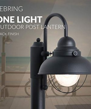 Sea Gull Lighting 8269 12 Sebring One Light Outdoor Post Lantern Outside Fixture Black Finish 0 3 300x360