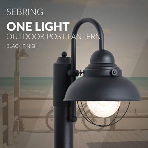 Sea Gull Lighting 8269 12 Sebring One Light Outdoor Post Lantern Outside Fixture Black Finish 0 3