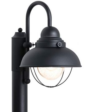 Sea Gull Lighting 8269 12 Sebring One Light Outdoor Post Lantern Outside Fixture Black Finish 0 300x360