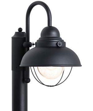 Sea Gull Lighting 8269 12 Sebring One Light Outdoor Post Lantern Outside Fixture Black Finish 0 300x360