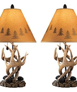 Signature Design By Ashley Derek Antler Table Lamp Mountain Style Shades Rustic 0 300x360