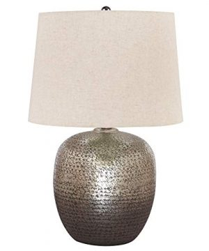 Signature Design By Ashley Magalie Metal Table Lamp Antique Silver Finish 0 300x360