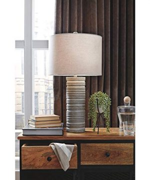 Signature Design By Ashley Nadyia Paper Table Lamp Gray 0 300x360