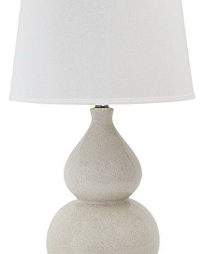 Signature Design By Ashley Saffi Ceramic Table Lamp Double Gourd Base Cream 0 289x360