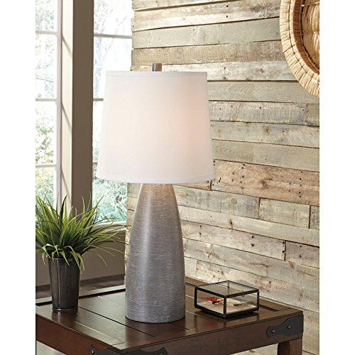 Signature Design By Ashley Shavontae Table Lamps Set Of 2 Modern Contemporary Gray 0 2