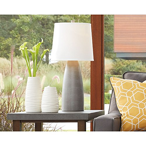 Signature Design By Ashley Shavontae Table Lamps Set Of 2 Modern Contemporary Gray 0 3