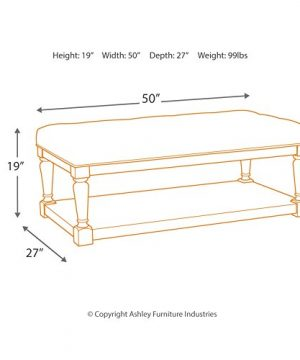 Signature Design By Ashley Shawnalore Casual Ottoman Cocktail Table W Storage Shelf Base Whitewash Wood 0 2 300x360
