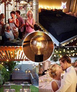 SkrLights 100 FT Globe String Lights With 105 G40 Globe Clear Bulbs G40 Indoor Outdoor Lighting Garden Fairy Backyard Market Xmas Holiday Patio Wedding Party String Lights Black Wire 0 3 300x360