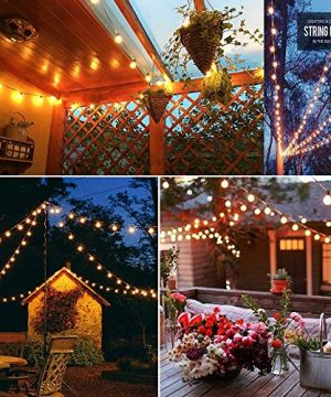 SkrLights 100 FT Globe String Lights With 105 G40 Globe Clear Bulbs G40 Indoor Outdoor Lighting Garden Fairy Backyard Market Xmas Holiday Patio Wedding Party String Lights Black Wire 0 4 300x360