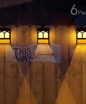 Solar Deck Lights Led Outdoor Garden Decorative Wall Mount Fence Post Lighting 6 Packs 0 300x360