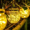 Solar Lantern Glass Jar Solar Lights 30 Led Solar Hanging Lantern Lights Outdoor Waterproof Glass Lantern For BackyardLawn Outdoor Patio Party Garden Wedding Christmas Decorations Warm Light 0 100x100