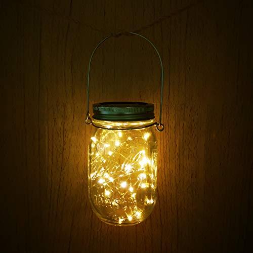 Solar Mason Jar Lights4 Pack 30 Led Starry Fairy String Hanging Jar LightsSolar Lanterns For Outdoor Patio Party Garden Wedding Christmas Decorations LightsMason JarsHandles Included 0 0